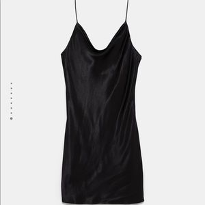 Satin slip dress from Zara